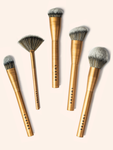Lustre Pro Makeup Face Brush Set Gold Edition (Valued at $73)