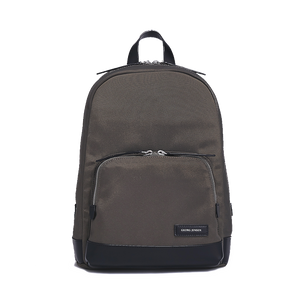 PURITY Leather-Trimmed Nylon Backpack - S / Grey