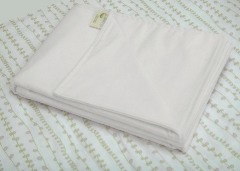 "White 8 oz Flannel - Double Thick 40x56"" Toddler/Crib Blanket"