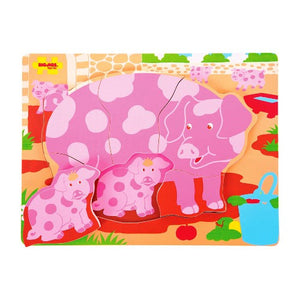 Chunky Puzzle Pig and Piglet Bigjigs Puzzles and Games