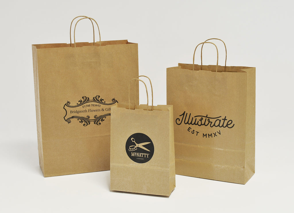Twisted Handle Natural Kraft bags