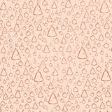 Christmas Ornaments Gold on Dusky Pink Counter Roll