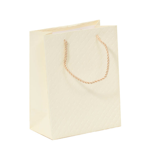 Lady Brigitte Small Cream Gift Bag, Pack 40 (57p each)