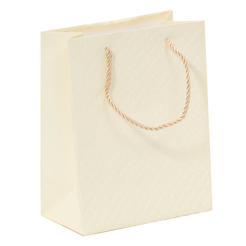 Lady Brigitte Medium Cream Gift Bag, Pack 40 (80p each)