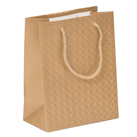 Lady Brigitte Medium Gold Gift Bag, Pack 40 (80p each)