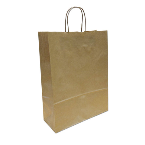 Kraft Paper Carrier Bag, 320x410x120 - Medium (PACK 200)