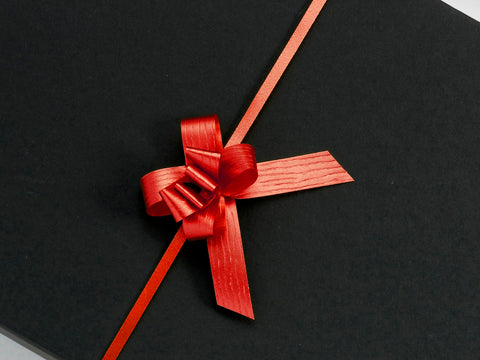 Paporlene Red Small Pull Bows (100)