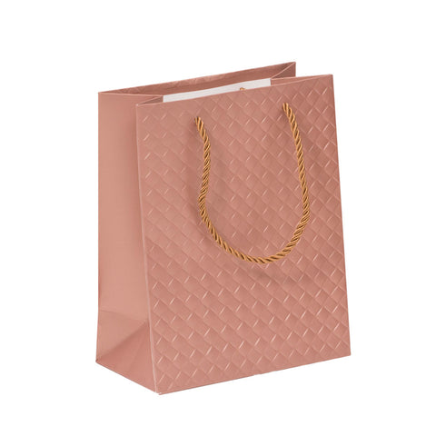 Lady Brigitte Small Rose Gold Gift Bag, Pack 40 (57p each)