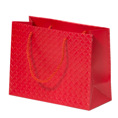 Lady Brigitte Medium Red Boutique Bag, Pack 40 (80p each)