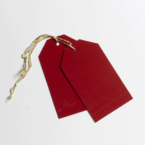 Luggage Gloss Deep Red Gift Tags (50)