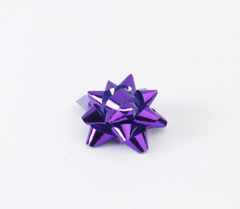 Metallic Purple Small Bows (50)
