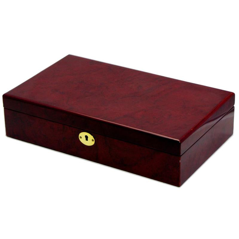 Pearl Time 12 Watch Box Matt Brown Finish 34cm Open PW001A