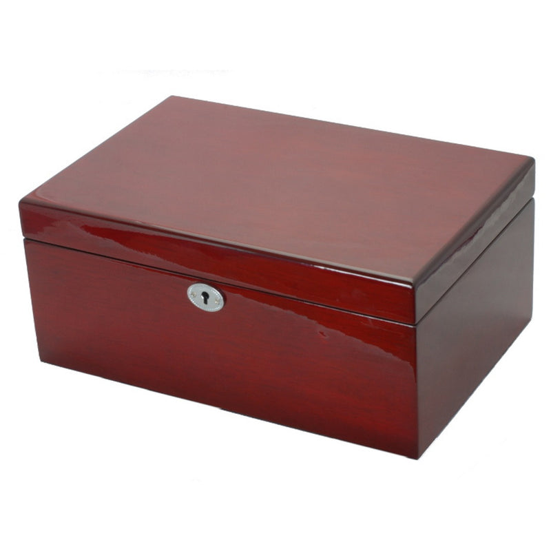 Pearl Time Jewellery And Watch Box Cherry Tone Finish 30cm Open PJ620-3