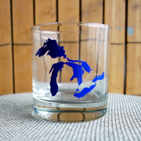 Great Lakes Printed Rocks Glass - City Bird