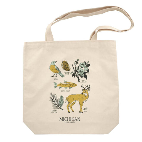 Michigan State Symbols Tote - City Bird
