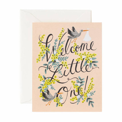 Welcome Little One Card - City Bird