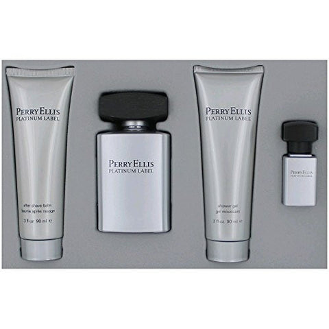 Perry Ellis Platinum Label Men 4 Piece Gift Set
