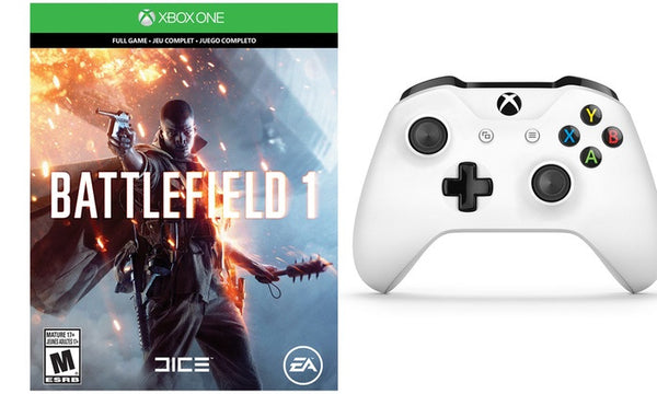 Xbox One 500GB Game System with Battlefield 1 and Xbox One S Wireless Controller