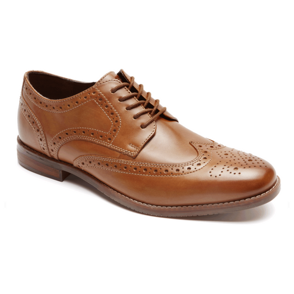 ROCKPORT - SYMON WINGTIP TAN