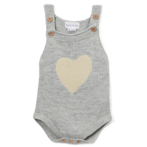 Heart Knit Bodysuit (3 Colors)