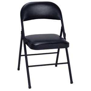 Set Of 4 Cosco Vinyl Folding Chairs