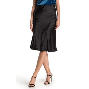 Satin Midi Skirt (4 Colors)