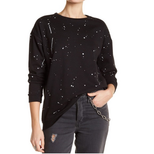 Crew Neck Paint Splatter Sweatshirt (2 Colors)