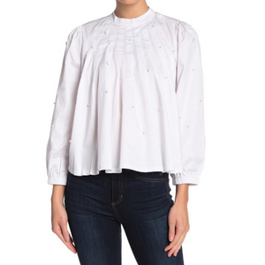 Pearl Pleated Blouse (2 Colors)