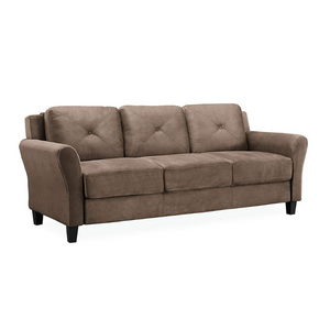 Lifestyle Solutions Rolled-Arm Collection Grayson Micro-Fabric Sofa (2 Colors)