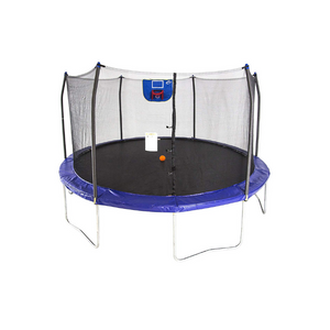 Skywalker Trampolines 15-Foot Jump N' Dunk Trampoline with Enclosure Net