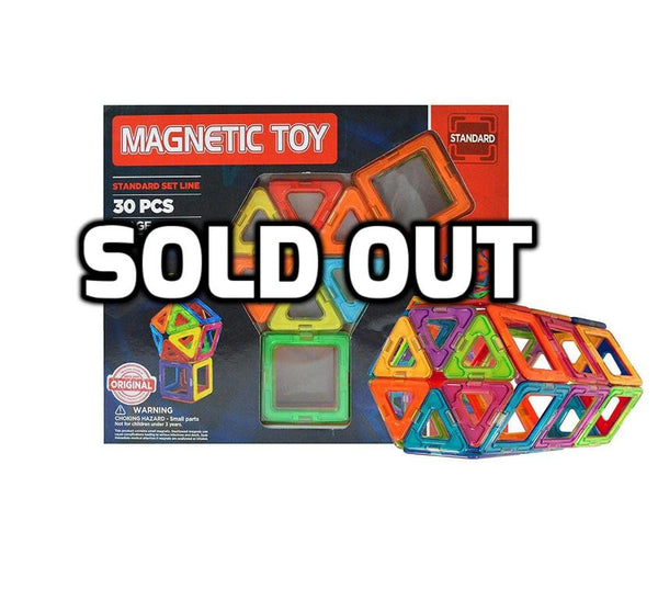 30 piece magnetic building blocks