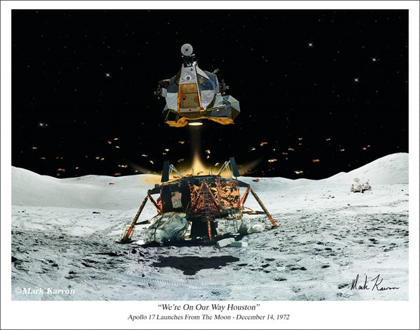 Apollo 17 Challenger Giclee - The Space Store