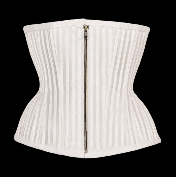 Gal White Striped Waist Taming Underbust With Hip Gores