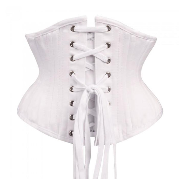 Riley White Waist Training Waspie Underbust