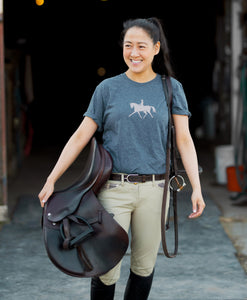 Blush Champagne Dressage T-Shirt - Gray & Bay Horse Co.