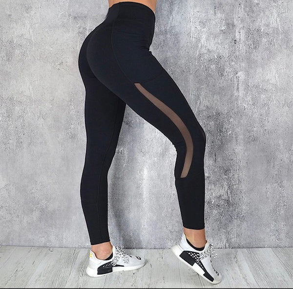 Leggings With Mesh and Phone Pocket