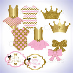 Little Princess Clipart - Pink, Gold