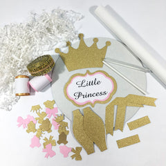 Little Princess Diaper Cake Kit - Pink & Gold
