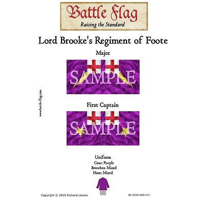 Battle Flag -  Lord Brooke's Regiment of Foote A (English civil war) - 28mm