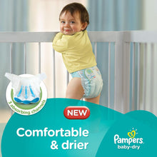 Pampers Baby-Dry Diapers, Size 6, Extra Large, 15+ kg, Double Mega Box (144 Count)