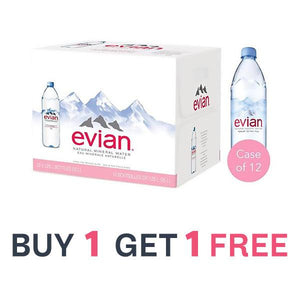 SPECIAL OFFER - Evian Natural Mineral Water (12 X 1.25 L) Buy 1 Get 1 FREE