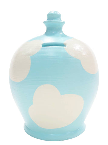 Terramundi Money Pot Cloud Blue With White - D85