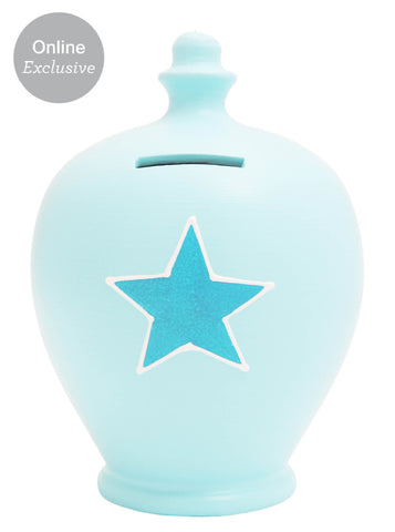 Terramundi Money Pot Star Baby Blue - A1