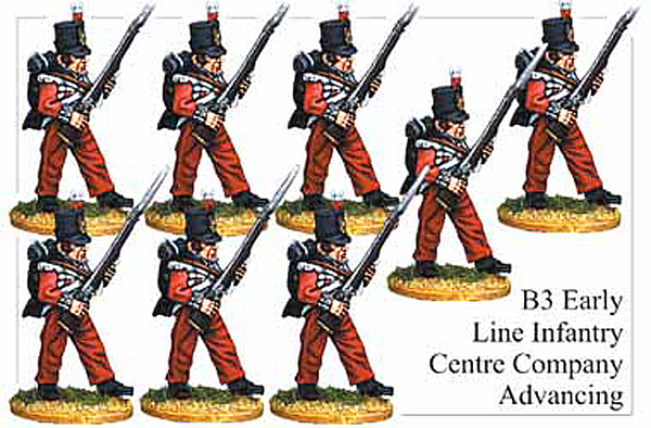 B003 Early Line Infantry Centre Company Advancing