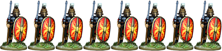 IR066 - Praetorian Guard, Segmented Armour, Standing with Pilum