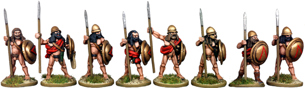 WG012 - Naked Spartan Hoplites At The Ready