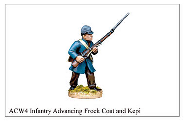 ACW004 - Infantry Advancing Frock Coat And Kepi