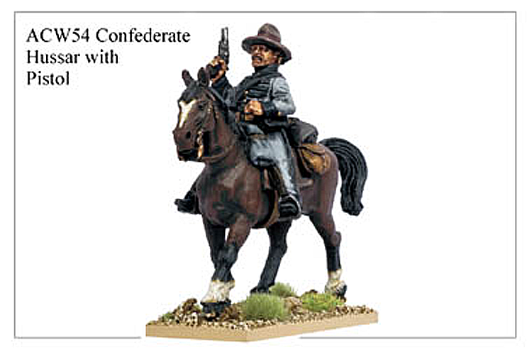 ACW054 - Confederate Hussar With Pistol