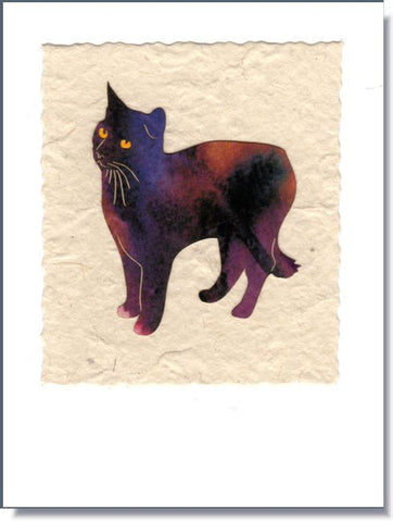 Standing Cat Art Greeting Card ~ 1661