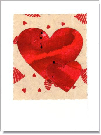Heart Duo Greeting Card ~ 233